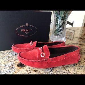 Authentic PRADA suede driving mocs shoes
